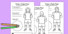 Design a Rugby Player Worksheet Polish Translation