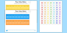 Place Value Maths Sliders Including Tenths, Hundredths and Thousandths