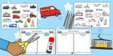 Transport Wheels or No Wheels Sorting Activity
