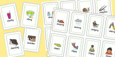 Two Syllable SL Sound Playing Cards