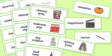 Three Syllable CL Word Cards