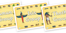 Class Group Signs (Ancient Egyptian Gods)