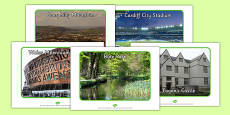 Cardiff Tourist Attraction Posters