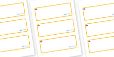 Rome Themed Editable Drawer-Peg-Name Labels (Blank)