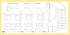 2, 5 and 10 Times Table Active Picture Building House Activity