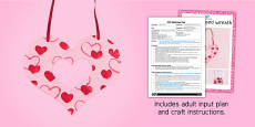 Heart Shaped Wreath Craft EYFS Adult Input Plan And Resource Pack