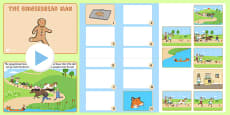 The Gingerbread Man Story and Story Sequencing Notebook