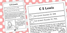 C. S. Lewis Significant Individual Fact Sheet