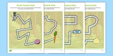 Bandit Rat Themed Pencil Control Path Activity Sheet Pack