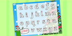 Elf Themed Letter Writing Activity Sheet