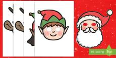 Máscaras de juego de rol -  La Navidad