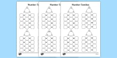 Number Families Multiplication and Division Activity Sheet