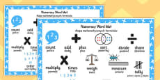 Polish Translation Numeracy Instructions Word Mat