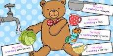 Teddy Washing Sentence Activity