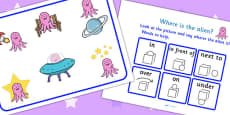 Where Is The Alien? Preposition Game