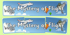 The Mystery of Flight Display Banner