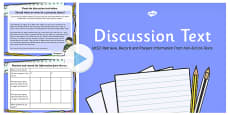 Discussion Text Read, Record and Present Information PowerPoint UKS2