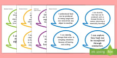 * NEW * Year 3 Australian Curriculum Science Understandings I Can Speech Bubbles