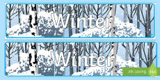 Editable Winter Display Banner