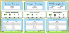 Welsh Camping Vocabulary Pack