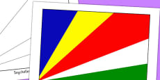 Seychelles Flag Display Poster