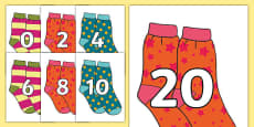 Counting in 2s on Socks
