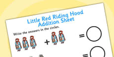 Little Red Riding Hood Addition Sheets