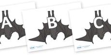 A-Z Alphabet on Bats