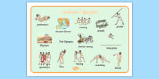 Ancient Olympics Word Mat