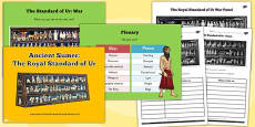 Ancient Sumer The Royal Standard of Ur Lesson Teaching Pack PowerPoint
