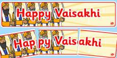 Happy Vaisakhi Display Banner