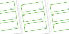 Ireland Themed Editable Drawer-Peg-Name Labels (Blank)