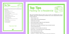 Top Tips Packing for a Residential
