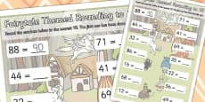 Fairytale Themed Round Up To 10 Worksheet
