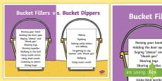 Bucket Filler vs. Bucket Dipper Display Poster