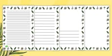 Palm Sunday Portrait Page Borders
