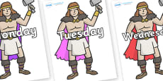 Days of the Week on Viking Warriors