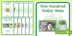 Australian Money Coins and Notes Display Posters