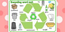 Recycling Word Mat