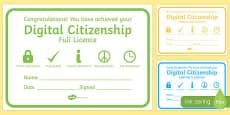 Digital Citizenship Certificates