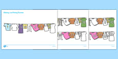 Washing Line Missing Number to 20 Activity Sheets