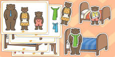Goldilocks and the Three Bears Size Ordering Pictures