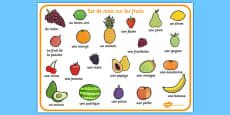 Fruit Word Mat French