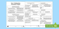 * NEW * Curriculum for Wales Year 4 Mathematics Targets Assessment Pack