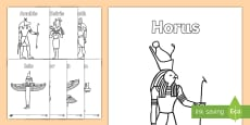Egyptian Gods Colouring Pages