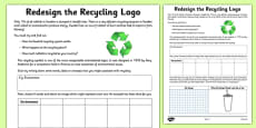 Redesign The Recycling Logo Activity Sheet