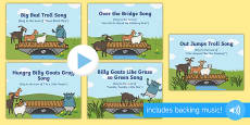 The Three Billy Goats Gruff Songs and Rhymes PowerPoints Pack