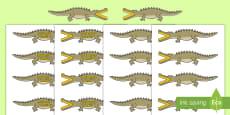 """* NEW * Semnele """"mai mare decât"""" și """"mai mic decât"""" reprezentate de crocodili"""