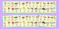 Alphabet Display Banner Arabic