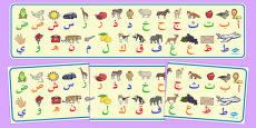 Alphabet Display Banner Arabic